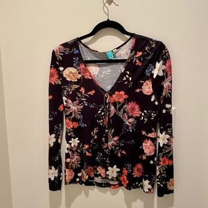Anthropology floral shirt